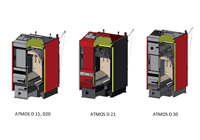 Wood burning boilers ATMOS